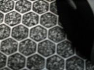 Close up of X-trac's hex patterned surface