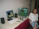 Barbara Finn demonstrates InterVideo software