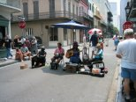 A band playing in the street