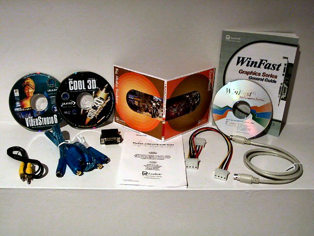 Leadtek WinFast A310 Ultra TD MyVivo Package Contents