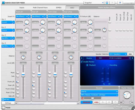 Audio Creation Mode