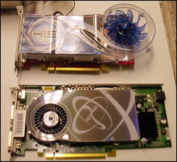 ATI's and NVIDIA's top card face off against eachother