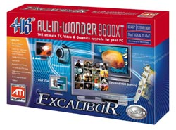 Fully Featured AIW Card With Both TV And FM Radio Support As The Name Suggests It Is Powered By Radeon 9600XT Clocked At 525MHz 128MB 128 Bit