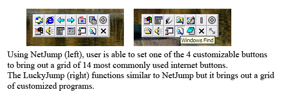 NetJump (left), LuckyJump (right)