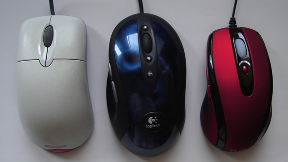 MS Optical, Logitech MX510, Lazer Laser 2500 DPI