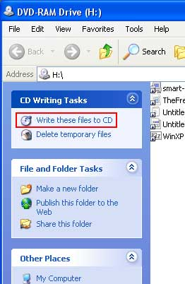 Write these files to disc