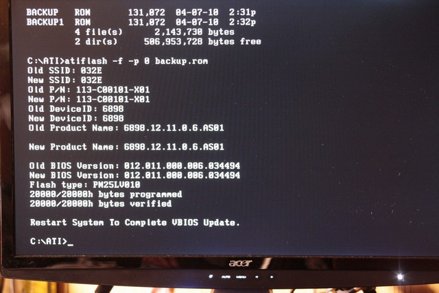 Updating video card bios ati
