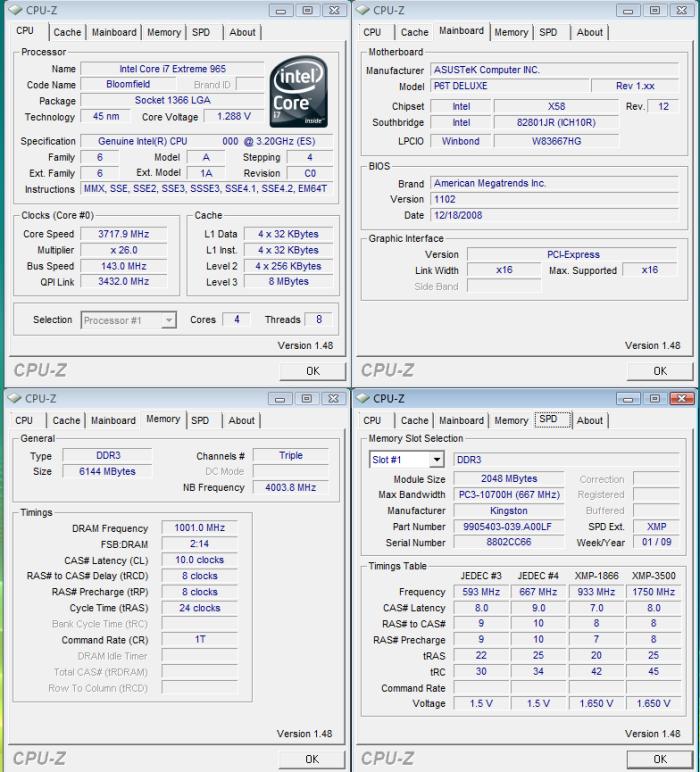 Kingston HyperX TC DDR3 2000 (KHX1600D3ULT1K3/6GX) - Bjorn3D com