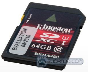 Kingston SD10A/64GB SDXC Memory Card - Bjorn3D com