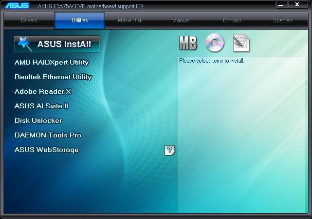 Asus F1A75-V EVO WebStorage Vista