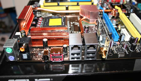 Back of the motherboard