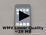 WMV Lower Quality ~29MB