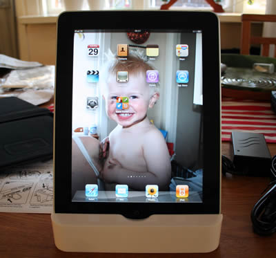 iPad in front slot