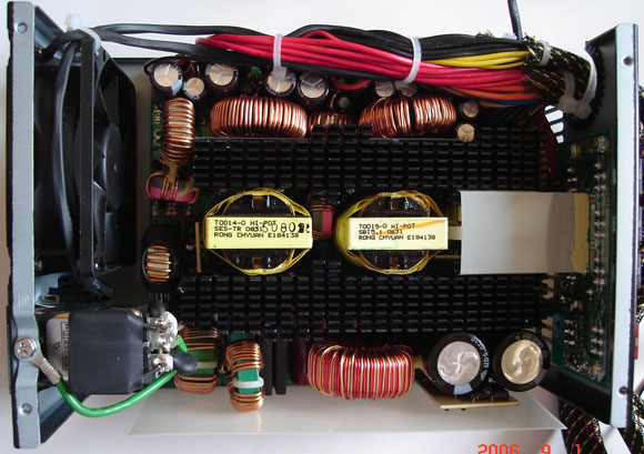 Top View of Internal Components