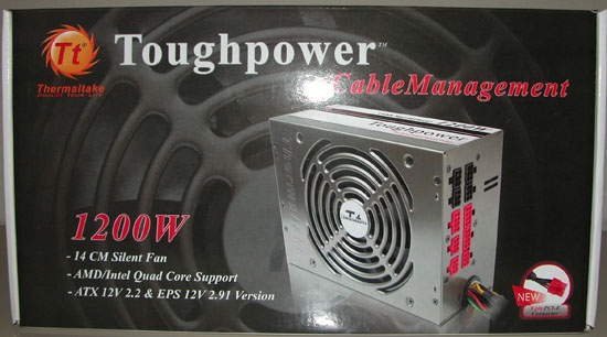 Thermaltake Toughpower W0133RU 1200W PSU Front of Box