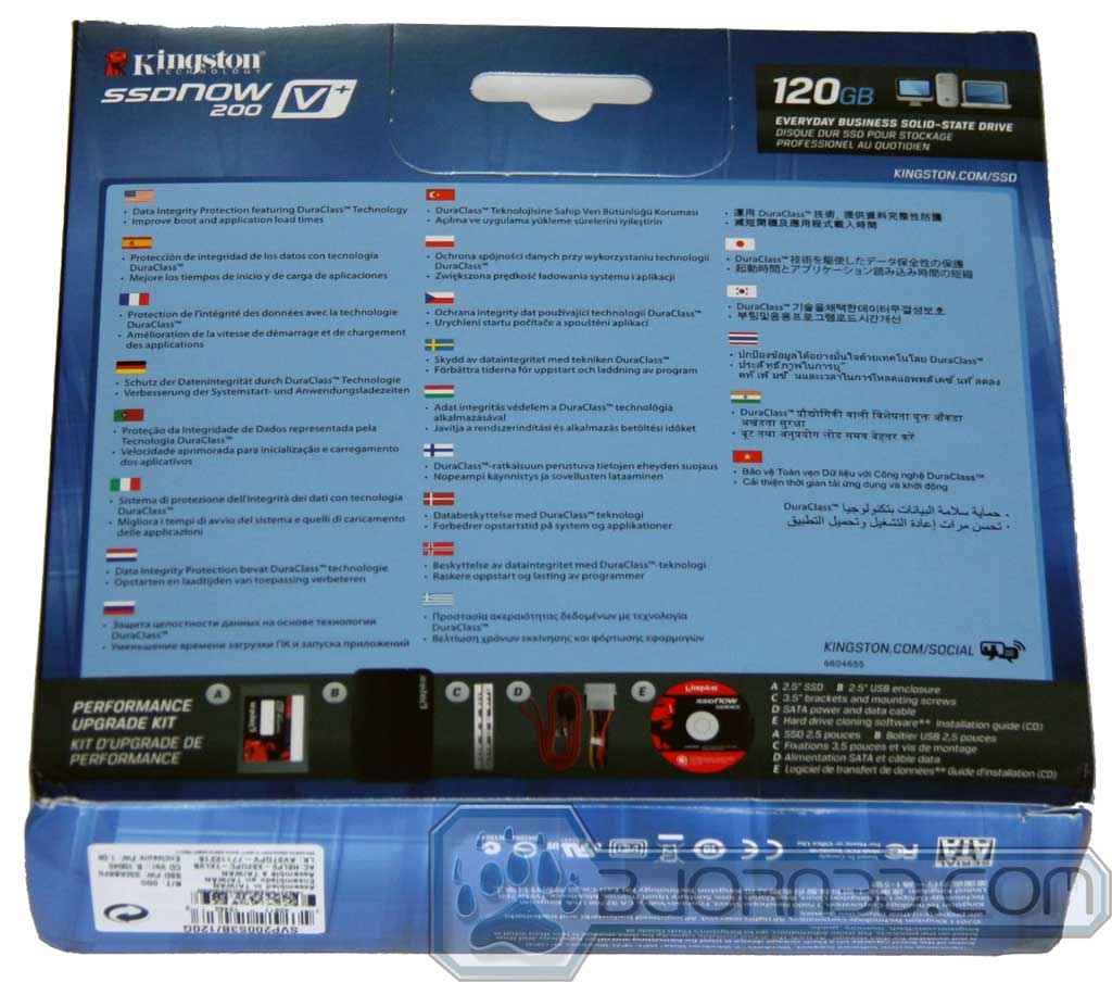 Kingston SSDNow 200V+ 120GB - Bjorn3D com