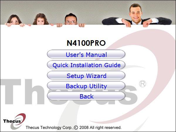 Thecus_N4100Pro Setup