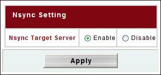 Thecus_N4100Pro Nsync Target Server