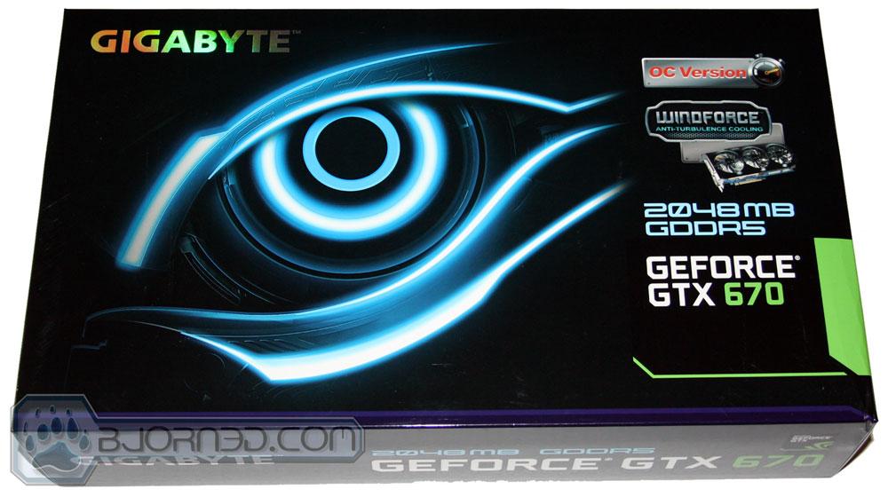 GIGABYTE GTX 670 OC Box Front
