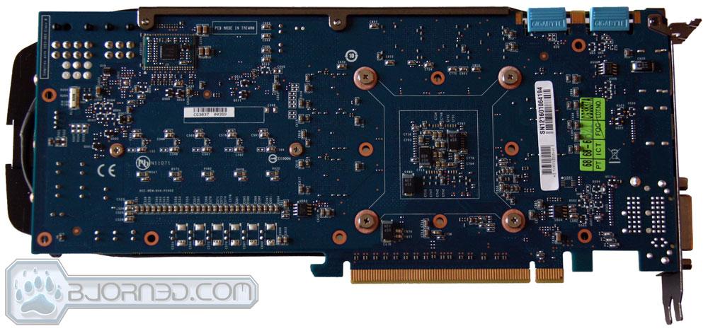 GIGABYTE GTX 670 OC Back PCB