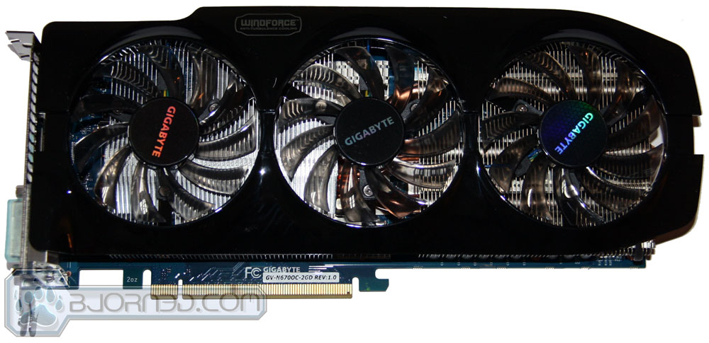 GIGABYTE GTX 670 OC Front Windforce 3X Cooler