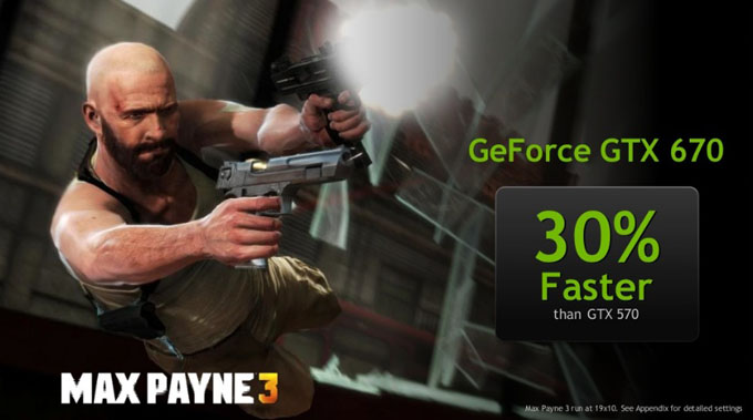 Max Payne 3 GTX 670 Performance Increase vs GTX 570