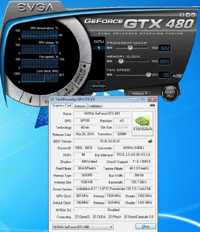 Overclocking GTX-480 / EVGA Precision 1 9 2 - Bjorn3D com